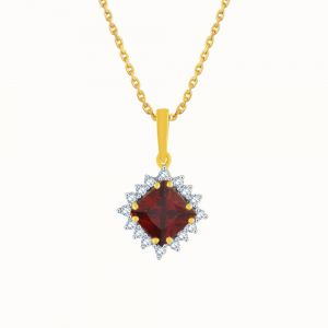 Triveni,Pick Pocket,Parineeta,Mahi Women's Clothing - Parineeta Yellow Gold Diamond Pendant KP158SI-JK18Y