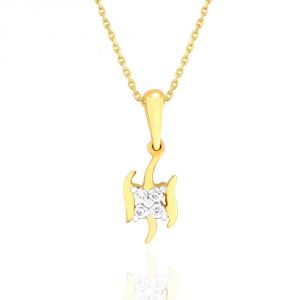 Asmi Women's Clothing - Asmi Yellow Gold Diamond Pendant NPC573SI-JK18Y