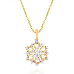 Diamond Pendants, Sets - Nakshatra Yellow Gold Diamond Pendant NPC694SI-JK18Y