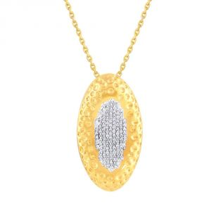 Nirvana Yellow Gold Diamond Pendant Op079si-jk18y