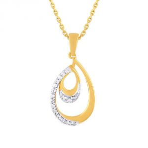 Triveni,My Pac,Sangini,Gili,Sukkhi Women's Clothing - Gili Yellow Gold Diamond Pendant OP793SI-JK18Y