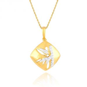 Nirvana Yellow Gold Diamond Pendant Plnp7122si-jk18y