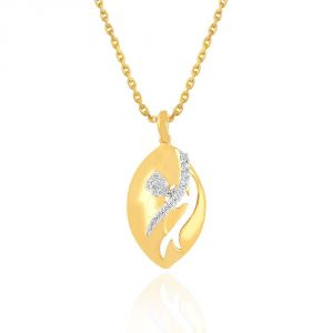 Nirvana Yellow Gold Diamond Pendant Plnp7129si-jk18y