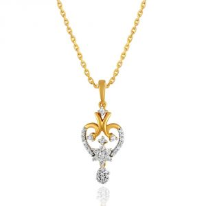Maya Diamond Yellow Gold Diamond Pendant Pp12007si-jk18y