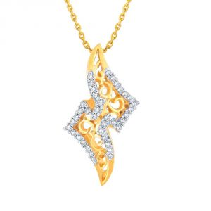 asmi,sukkhi,sangini,lime,sleeping story Diamond Pendants, Sets - Sangini Yellow Gold Diamond Pendant PP12215SI-JK18Y