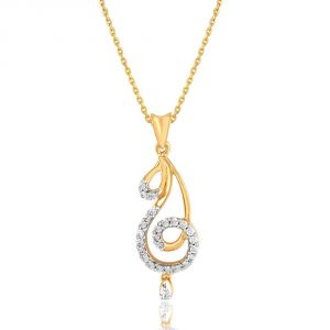 Maya Diamond Yellow Gold Diamond Pendant Pp12242si-jk18y