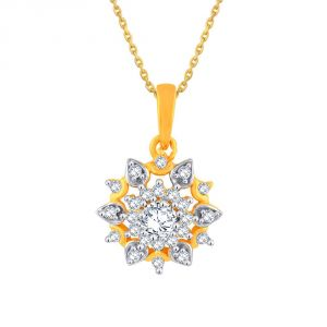 Rcpc,Ivy,Pick Pocket,Kalazone,Unimod,Sangini Women's Clothing - Sangini Yellow Gold Diamond Pendant PP12508SI-JK18Y