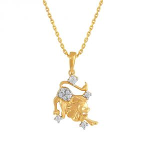 Rashi By Gitanjali Yellow Gold Diamond Pendant Pp12648si-jk18y