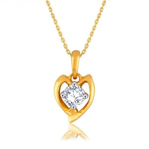 Nirvana Yellow Gold Diamond Pendant Pp12749si-jk18y