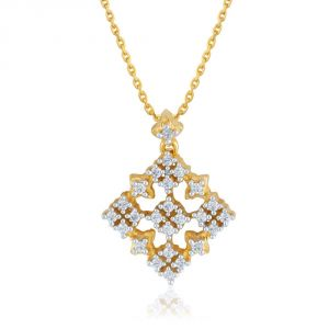 Sangini Yellow Gold Diamond Pendant Pp13170si-jk18y