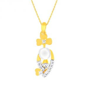 Asmi Yellow Gold Diamond Pendant Pp14813si-jk18y