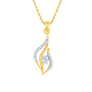 Asmi,Sukkhi,Triveni,Mahi,Gili,Surat Tex,Pick Pocket Women's Clothing - Asmi Yellow Gold Diamond Pendant PP15402SI-JK18Y