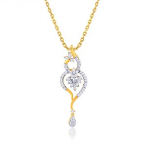 Asmi Yellow Gold Diamond Pendant Pp17988si-jk18y