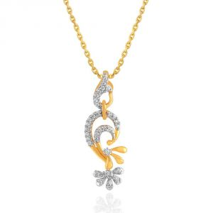 Maya Diamond Yellow Gold Diamond Pendant Pp18016si-jk18y