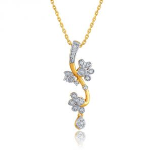 Maya Diamond Yellow Gold Diamond Pendant Pp20427si-jk18y
