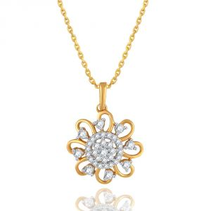 Maya Diamond Yellow Gold Diamond Pendant Pp21264si-jk18y