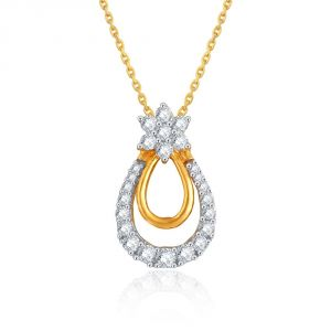 Maya Diamond Yellow Gold Diamond Pendant Pp21272si-jk18y