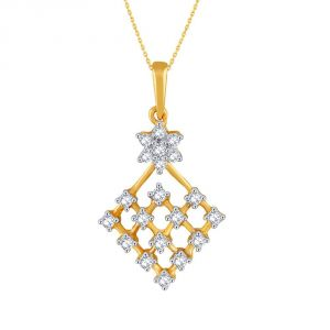 Nakshatra Yellow Gold Diamond Pendant Pp25417si-jk18y
