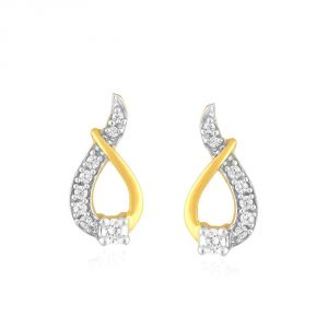 Hoop,Shonaya,Arpera,The Jewelbox,Gili,Tng,Port,Bagforever Women's Clothing - Gili Yellow Gold Diamond Earrings ADE00040SI-JK18Y