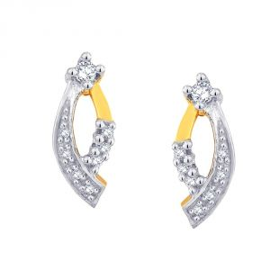 Hoop,Asmi,Kalazone,Tng,Lime Women's Clothing - Asmi Yellow Gold Diamond Earrings ADE00143SI-JK18Y