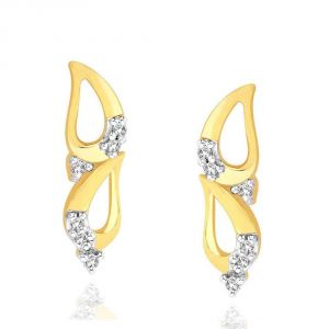 Asmi,Sukkhi,The Jewelbox,Parineeta,Clovia Women's Clothing - Asmi Yellow Gold Diamond Earrings ADE00146SI-JK18Y