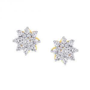 Sangini Yellow Gold Diamond Earrings Ae352si-jk18y