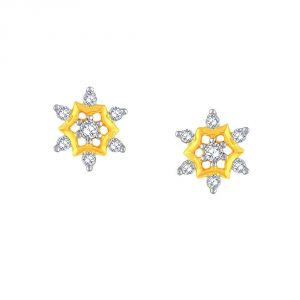 La Intimo,Shonaya,Sangini,Diya,Gili Women's Clothing - Sangini Yellow Gold Diamond Earrings AE455SI-JK18Y