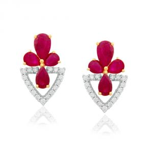 Kiara,Sukkhi,Ivy,Parineeta,Cloe Diamond Jewellery - Parineeta Yellow Gold Diamond Earrings BAEP006SI-JK18Y