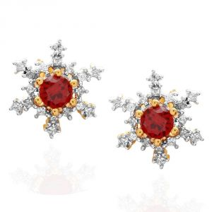 Triveni,Pick Pocket,Parineeta,Mahi Women's Clothing - Parineeta Yellow Gold Diamond Earrings BAEP553SI-JK18Y