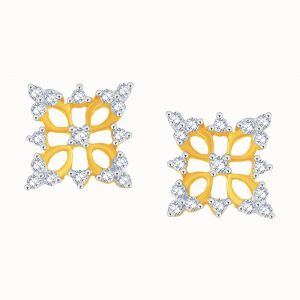Vipul,Arpera,Clovia,Oviya,Sangini Women's Clothing - Sangini Yellow Gold Diamond Earrings CE978SI-JK18Y
