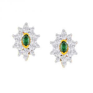 Sukkhi,Ivy,Parineeta,Cloe Diamond Jewellery - Parineeta Yellow Gold Diamond Earrings CEC363SI-JK18Y