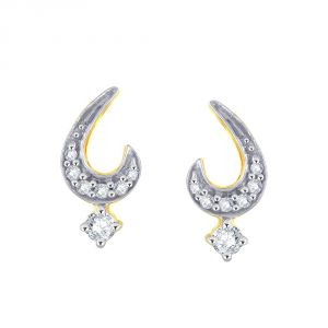 Hoop,Unimod,Kiara,Oviya,Bikaw,Sangini,Kalazone Women's Clothing - Sangini Yellow Gold Diamond Earrings CEK568SI-JK18Y