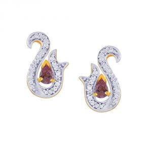 Rcpc,Kalazone,Jpearls,Parineeta,Bagforever,Clovia,Shonaya,Flora,Hoop Women's Clothing - Parineeta Yellow Gold Diamond Earrings DDE15445SI-JK18Y
