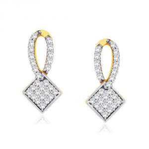 Triveni,Platinum,Port,Mahi,Clovia,Gili,Arpera Women's Clothing - Gili Yellow Gold Diamond Earrings DDE15542SI-JK18Y
