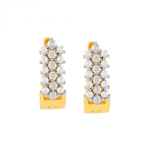 Vipul,Port,Fasense,Triveni,The Jewelbox,Gili,Tng Women's Clothing - Gili Yellow Gold Diamond Earrings DE302SI-JK18Y