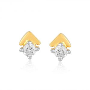 Me-solitaire Yellow Gold Diamond Earrings De333si-jk18y