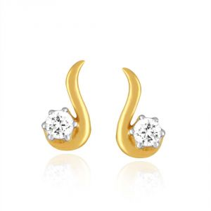 Me-solitaire Yellow Gold Diamond Earrings De342si-jk18y
