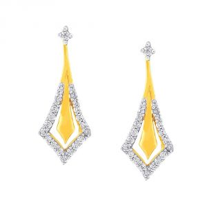 La Intimo,Shonaya,Sangini,Diya,Gili Women's Clothing - Sangini Yellow Gold Diamond Earrings DE705SI-JK18Y