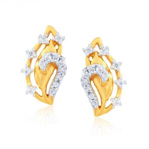 Triveni,Pick Pocket,Shonaya,Jpearls,Sangini Diamond Jewellery - Sangini Yellow Gold Diamond Earrings E24B00039SI-JK18Y