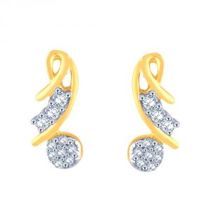 Vipul,Arpera,Clovia,Oviya,Sangini,Fasense Women's Clothing - Sangini Yellow Gold Diamond Earrings GEL273SI-JK18Y