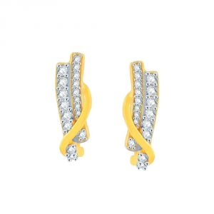 My Pac,Sangini,Gili,Sukkhi,Estoss Women's Clothing - Gili Yellow Gold Diamond Earrings GEL378SI-JK18Y