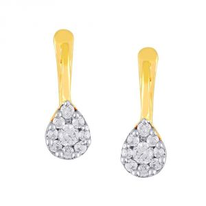 Nirvana Yellow Gold Diamond Earrings Jde10015si-jk18y