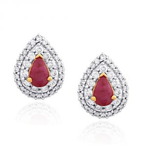 Vipul,Port,Fasense,Triveni,The Jewelbox,Gili,Tng Women's Clothing - Gili Yellow Gold Diamond Earrings OEL746SI-JK18Y