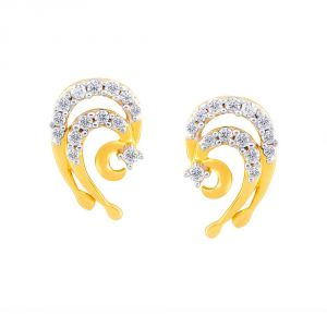 Soie,Port,Ag,Asmi,Bagforever,Platinum Women's Clothing - Asmi Yellow Gold Diamond Earrings PE13056SI-JK18Y