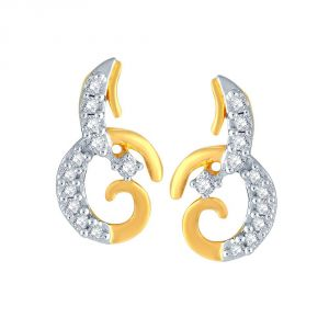 Asmi,Platinum,Ivy,Unimod,Clovia,Diya Women's Clothing - Asmi Yellow Gold Diamond Earrings PE16699SI-JK18Y