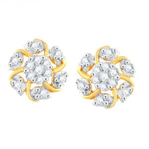 Nirvana Yellow Gold Diamond Earrings Pe17390si-jk18y