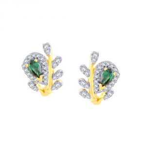 Rcpc,Kalazone,Jpearls,Fasense,Shonaya,Valentine,Parineeta Women's Clothing - Parineeta Yellow Gold Diamond Earrings PE18919SI-JK18Y