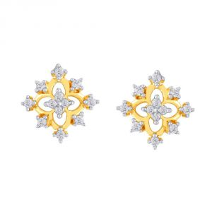Asmi Yellow Gold Diamond Earrings Pe21256si-jk18y