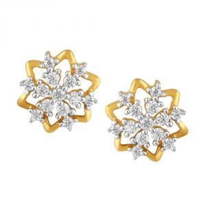 Asmi,Kalazone,Tng,Soie Women's Clothing - Asmi Yellow Gold Diamond Earrings PE21380SI-JK18Y