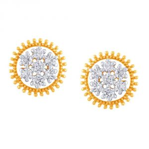 Nakshatra Yellow Gold Diamond Earrings Pe21744si-jk18y